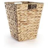 Corbeille à papier feuille de bananier naturel   Poubelles en osier pour chambre   Recyclage du papier de bureau   Panier de rangement   M&W