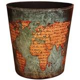 Corbeille à Papier Finer Shop La Poubelle à Papier par Un Style Européen - Modèle du Carte Mondial