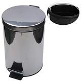 N / A Poubelle 1pc 3l / 5l Poubelle Ronde Poubelle Anti-Empreintes Digitales Résistante À La Saleté Poubelle De Toilette Domestique-3l Housewares Recyclage pour