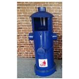 Poubelle Forme Brosse feu Poubelle de recyclage extérieur Bin Garbage Can Organisateur conteneur for Patios Park 6 couleurs (Color : Blue)
