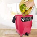FMXYMC Poubelle de Compost d\'intérieur avec Couvercle hermétique Poubelle de Cuisine avec Drain Baril de Compost de déchets Alimentaires surdimensionné Engrais Organique Fait Maison Rouge