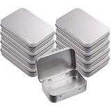 8 Pièces Boîtes à Charnières Vides Rectangulaires En Métal Mini boîte en Fer Blanc Portable Boîte Vide Métallique Rectangulaire avec Couvercle pour Rangement Domestique Stockage de Petits Objets