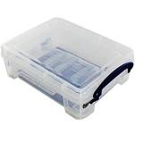 Really Useful Box 6 boîtes de rangement de 1 75 l avec couvercle - Transparentes.