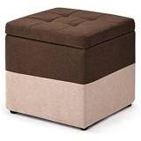 Knowled Tabouret Cube Pouf dé Pliable Coffre siège de Rangement boîte 30x30x35 cm/40x40x40 cm avec Couvercle Amovible