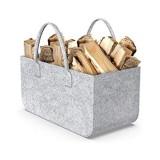 1 sac en feutre 50 x 25 x 25 cm paniers de rangement en feutre pour bois de chauffage sac de rangement panier à journaux en feutre