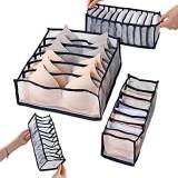 Organisateur de sous-vêtements tiroirs boîte de rangement pour sous-vêtements boîte pliable pour ranger soutien-gorge chaussettes slips et cravates (noir)