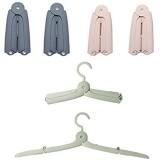 Xinyanmy 6Pcs Pliante Portable cintres pour vêtements de Voyage Camping 2 in 1 Coupe-Vent et antidérapant Etendoir pour la Famille
