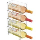 Casier à vin Ultra Moderne - Casier à Bouteilles Transparent en Cristal - Support à vin Horizontal Prolonge la durée de Vie du vin et du liège - Casiers à vin empilables - 4 Bouteilles chacun - Clair