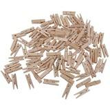 100pcs Mini Pinces en Bois Pince à Linge Multiusage pour DIY Clips Epingles