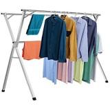 XNDCYX Séchoir À Linge Étendoir Étendoir À Linge Compacte Réglable Pliable en Acier Inoxydable Deluxe Grand D\'étendage pour Chaussettes Draps Vêtements Easy-Lift 2.4